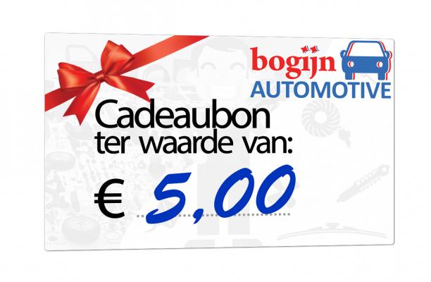 Bogijn Cadeaubon t.w.v.:  5,00